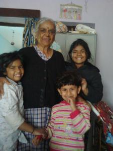 Naani and Us. About 2007-2008. She was too sick later.