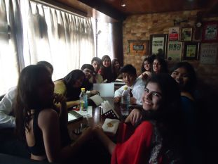 After-farewell lunch with favorites.